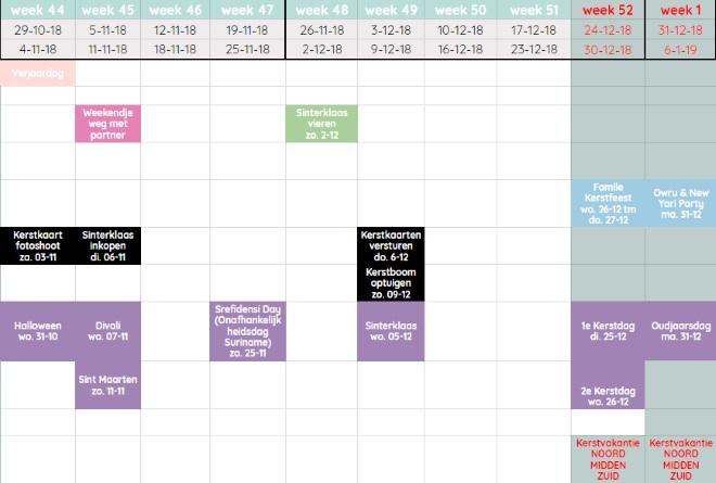 De Mamasita jaarkalender 2018